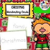 Christmas Handwriting Cards