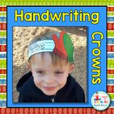 Christmas Handwriting Crowns - A Christmas Literacy Center