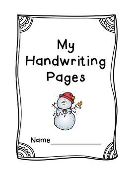 Christmas Handwriting Packet