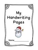 Christmas Handwriting Packet