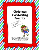 Christmas Handwriting Practice A - Z