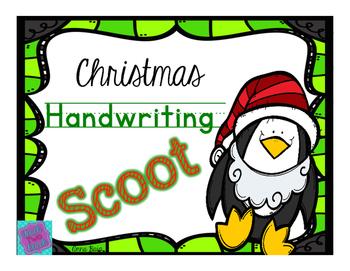 Christmas Handwriting Scoot