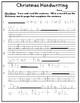 Christmas Handwriting Trace and Print Copywork