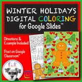 Christmas & Hanukkah Distance Learning Digital Coloring Pa