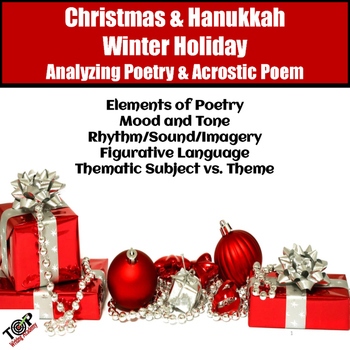 Christmas Activities Poetry Analysis & Acrostic Poem Writing | TpT