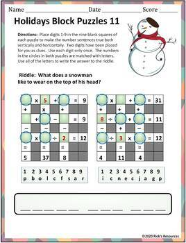 Christmas Math, Language, Bingo Activities