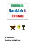 Christmas, Hanukkah & Kwanzaa: Cards & Labels, Webs and Venn Diagrams