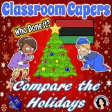 Christmas Guess Who Game Hanukkah Kwanzaa Classroom Cape