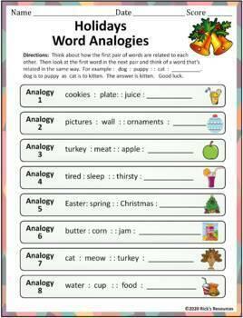 Christmas Hanukkah Kwanzaa Language Activities