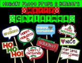 Christmas & Hanukkah Photo Booth Props & Banners