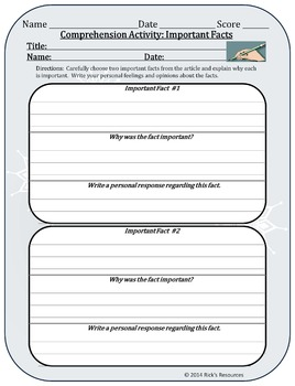 Christmas Comprehension Activities - FREE