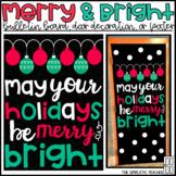 Christmas/Happy Holidays Bulletin Board, Door Decor, or Poster