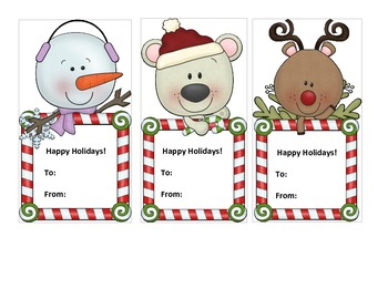 Christmas/ Happy Holidays Gift Tags FREE