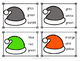 Christmas Hat Color Sight Word Clip Cards