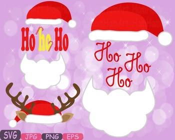 Christmas Hats Props Santa Hat deer hat clipart Santa Claus reindeer deer 482s