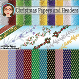 Christmas Papers and Headers