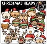 Christmas Heads Clip Art Bundle {Educlips Clipart}