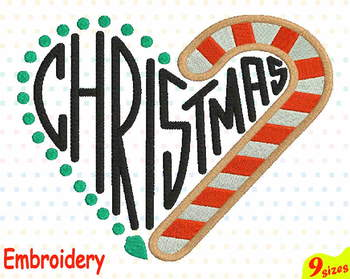 Christmas Heart Embroidery Machine digital 4x4 5x7 hoop Stiches decorations 102b