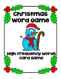 Christmas High Frequency Word Game