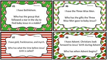 The History, Beliefs, and Traditions of Christmas I Have Who Has Activity