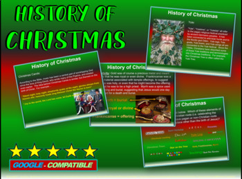 Christmas History: fun, engaging, informative 23-slide PPT w/ links & activities