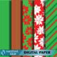 Christmas Holiday 12 by 12 Printable Digital Paper Set