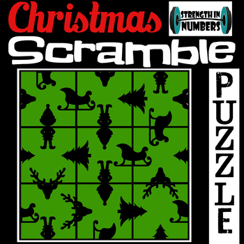 Christmas Holiday 3x3 SCRAMBLE Puzzle for Early Finishers