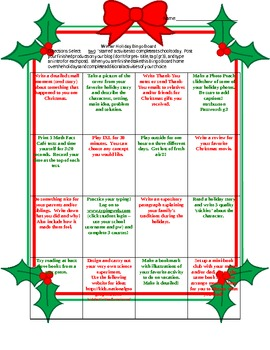 Christmas Holiday Activities Student Skill Reinforcement
