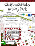 Christmas/Holiday Activity Pack (Reading, Math, Digital Breakout, FUN!)