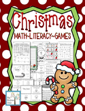 Christmas Holiday Activity Set K-1 Math Literacy Games Puzzles Writing
