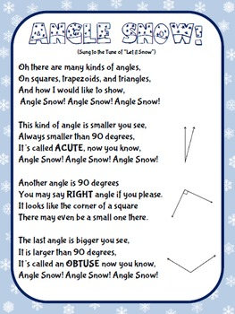 Christmas Holiday Angle Snow Song and Craft Activity (Angles)