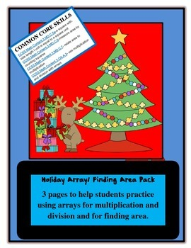 Christmas Holiday Area and Multiplication Array Pack