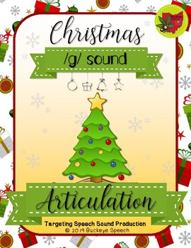 Christmas Articulation Activity - G Sound!