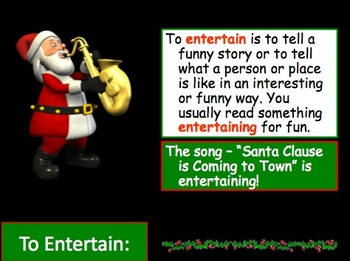 Christmas Holiday Author's Purpose Powerpoint Lesson and quiz