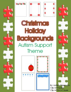 Christmas Holiday Backgrounds and Borders – Autism Support
