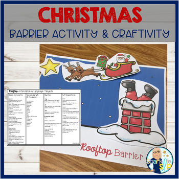 Christmas Holiday Barrier Activity & Craftivity Speech and Language Development