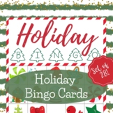 Christmas Holiday Bingo Cards - Bingo Game