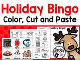 Christmas Bingo~ Color, Cut and Paste with Calling Cards