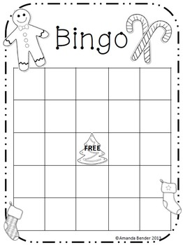 Christmas/ Holiday Bingo Sheet
