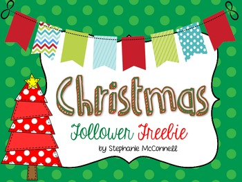 Christmas Holiday Book-Follower Freebie