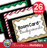 Christmas Holiday Boom Card™ Background Borders (Clipart) Set #1