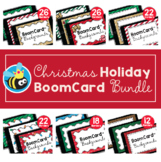 Christmas Holiday Boom Card™ Background Borders (Clipart) BUNDLE