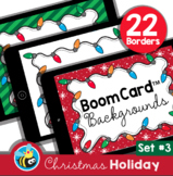 Christmas Holiday Boom Card™ Background Borders (Clipart) Set #3