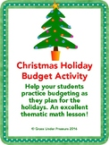 Christmas Holiday Budget Activity