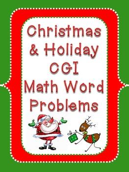 Christmas Holiday CGI Math Word Problems