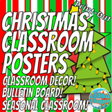 Christmas Holiday Classroom Posters! - Bulletin Board Display