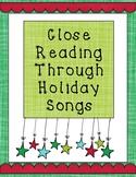 Christmas Holiday Close Reading Through Song Lyrics PRINTABLE!