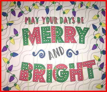 Christmas - Holiday Collaborative Poster!  Merry and Bright for Christmas season