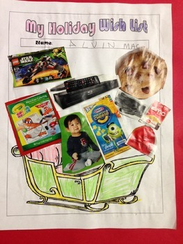 Christmas Holiday Collage Activity