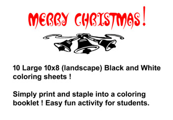 Christmas Holiday Coloring Booklet !